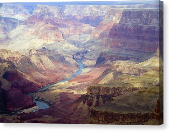 World Heritage Site Canvas Print - The Colorado River And The Grand Canyon by Annie Griffiths