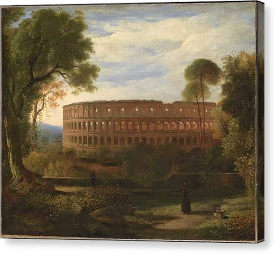 The Colosseum Canvas Print - The Colosseum From The Esquiline by Charles Lock Eastlake
