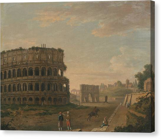 The Colosseum Canvas Print - The Colosseum by John Inigo Richards