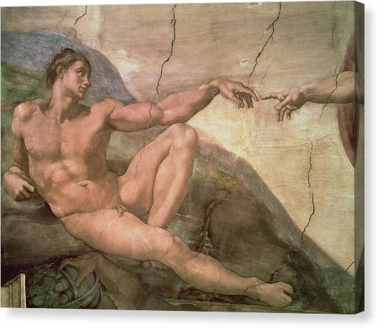 The Creation Of Adam Canvas Print - The Creation Of Adam by Michelangelo Buonarroti