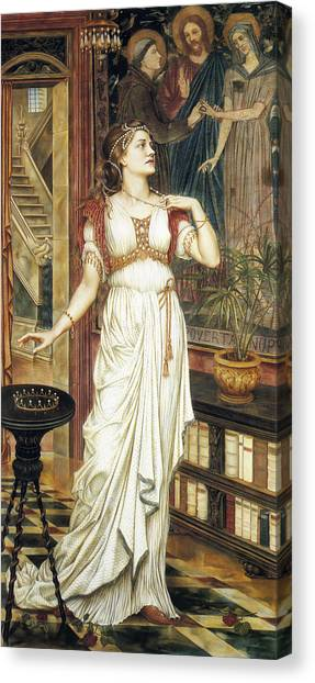 The Crown Canvas Print - The Crown Of Glory by Evelyn de Morgan