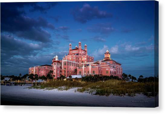 Beach Resort Vacation Canvas Print - The Don Cesar Resort by Marvin Spates