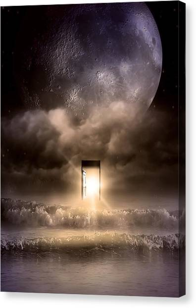Weeping Canvas Print - The Door by Svetlana Sewell