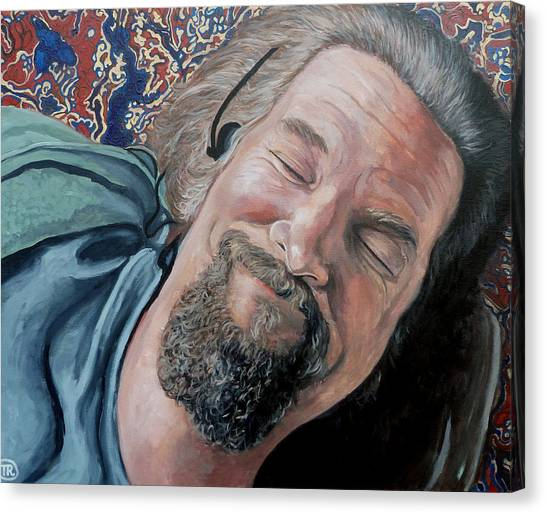 Bowling Canvas Print - The Dude by Tom Roderick