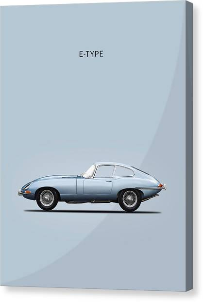 Coupe Canvas Print - The E Type by Mark Rogan