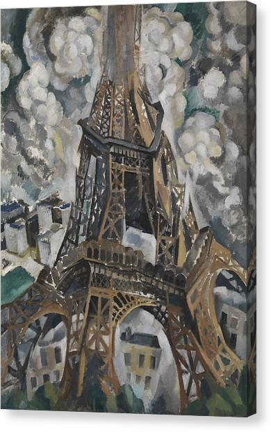 Divisionism Canvas Print - The Eiffel Tower by Robert Delaunay