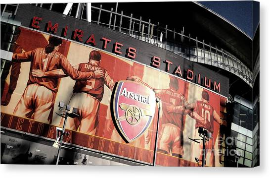 Arsenal Fc Canvas Print - The Emirates Stadium by J Biggadike