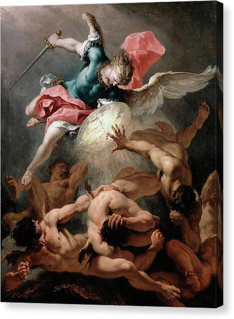 The Fall Of The Rebel Angels Canvas Print