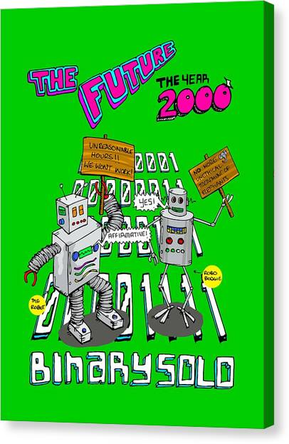 Hammerhead Sharks Canvas Print - The Flight Of The Conchords Binary Solo Robots The Humans Are Dead by Paul Telling