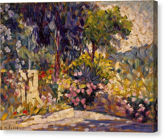 Divisionism Canvas Print - The Flowered Terrace by Henri-Edmond Cross