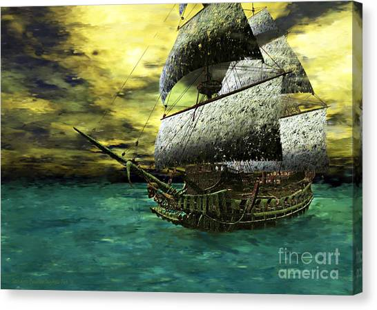 The Flying Dutchman Canvas Print by Sandra Bauser Digital Art
