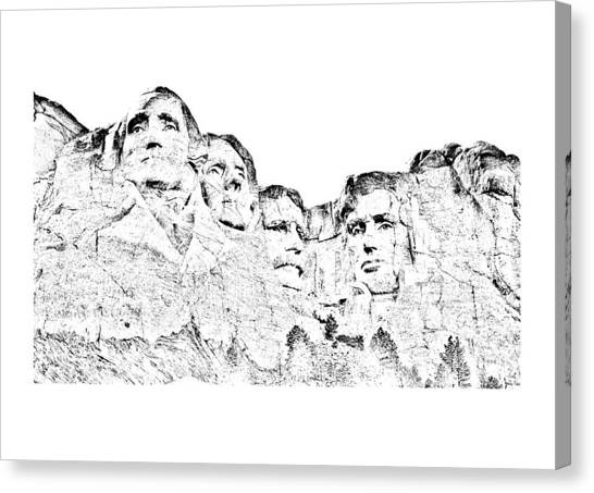 The Four Presidents Canvas Print