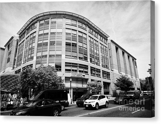 George Washington University Gwu Canvas Print - the george washington university hospital Washington DC USA by Joe Fox