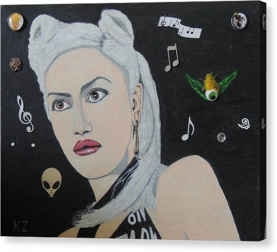 The Girl From Orange County.gwen Stefani. Canvas Print