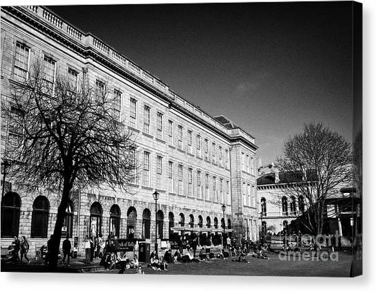 Kell Canvas Print - the grand library building home to the book of kells trinity college Dublin Republic of Ireland by Joe Fox