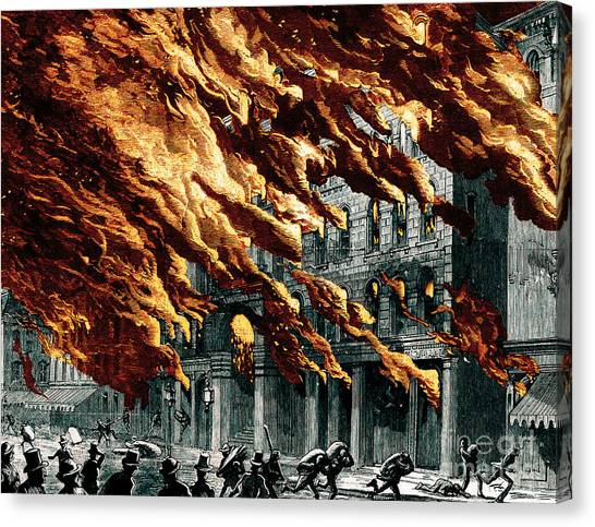 Chicago Fire Canvas Print - The Great Chicago Fire, 1871 by Science Source