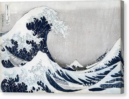 Surf Canvas Print - The Great Wave Of Kanagawa by Hokusai