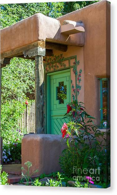 The Green Door Canvas Print