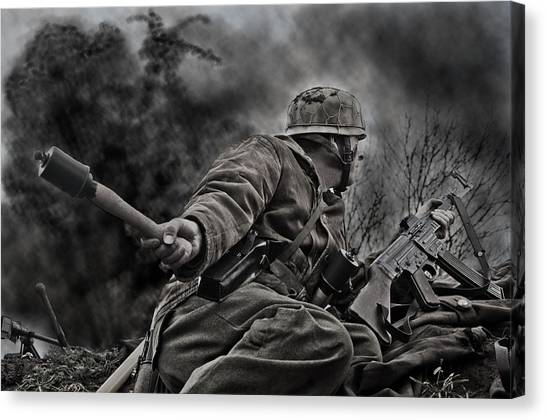 Grenades Canvas Print - The Grenadier by Mark H Roberts