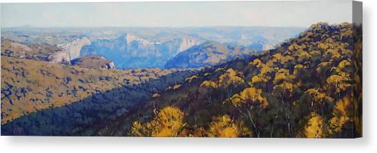 Mountain Cliffs Canvas Print - The Grose Valley by Graham Gercken