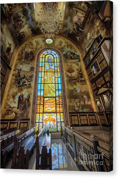 Coptic Art Canvas Print - The Heavenly Cthedral In Sharm El Sheikh by Frank Bach