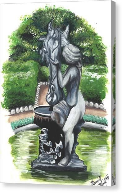 The Hidden Fountain Canvas Print by Scarlett Royal