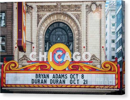 The Iconic Chicago Theater Sign Canvas Print