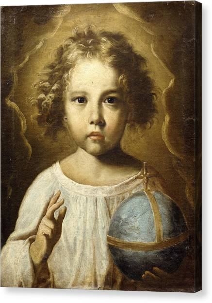 Holy Bible Canvas Print - The Infant Jesus by Old master