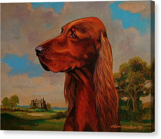 The Irish Setter Canvas Print by Alan Carlson