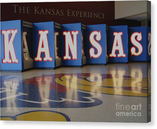 University Of Kansas Canvas Print - The Kansas Experience by Amy Steeples