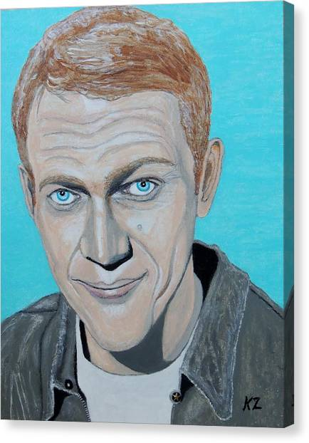 The King Of Cool.steve Mcqueen. Canvas Print