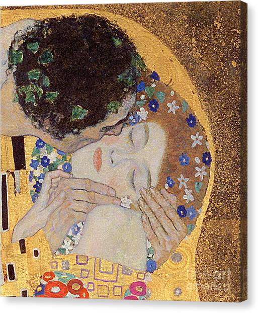 Gold Canvas Print - The Kiss by Gustav Klimt