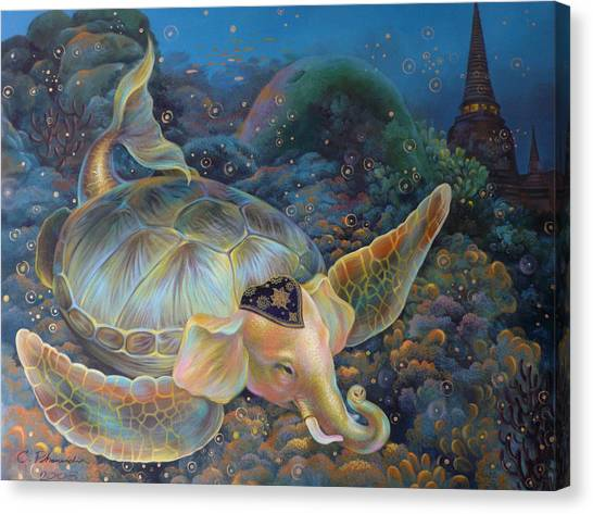 The Light Of Buddhism Canvas Print