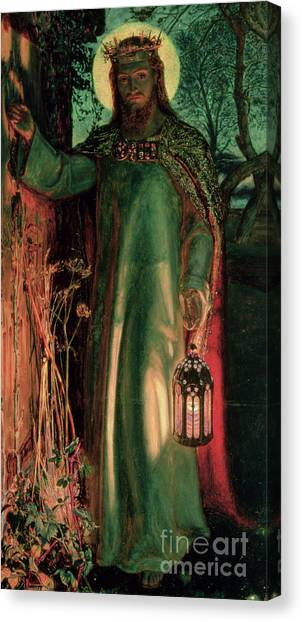 Biblical Canvas Print - The Light Of The World by William Holman Hunt