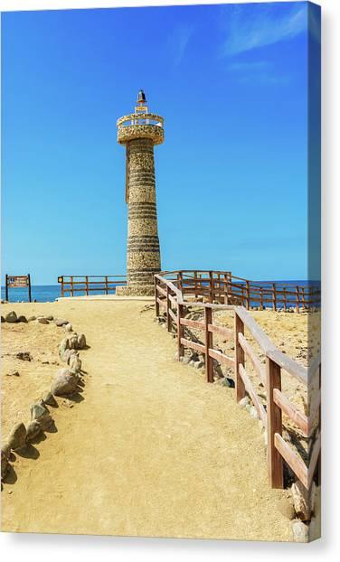 The Lighthouse In Salinas, Ecuador Canvas Print