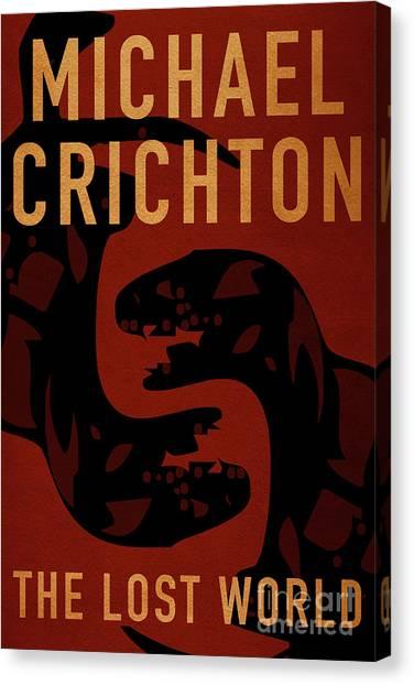 Jurassic Park Canvas Print - The Lost World By Michael Crichton Minimalist Movie Poster Book  by Nishanth Gopinathan