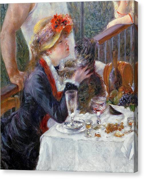 Picnic Canvas Print - The Luncheon Of The Boating Party by Pierre Auguste Renoir