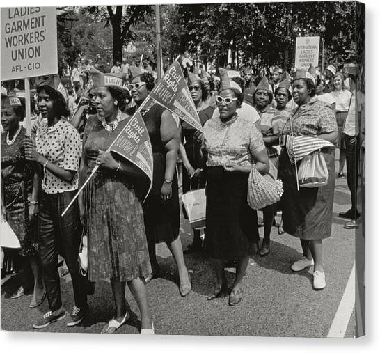 Placard Canvas Print - The March On Washington by Nat Herz