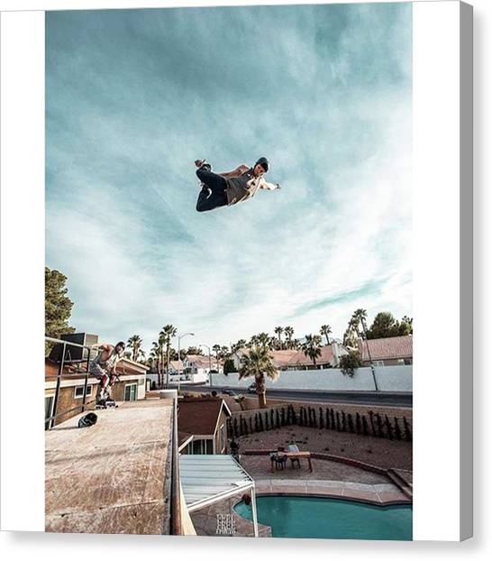 Rollerblading Canvas Print - The Master Of The Vert On He's Element by Ephcto Ernesto Borges