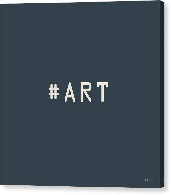 Jazz Canvas Print - The Meaning Of Art - Hashtag by Serge Averbukh