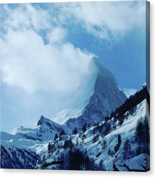 Matterhorn Canvas Print - The Most Beautiful Mountain In The by Thomas Zimmermann