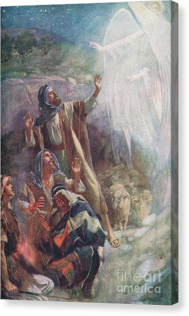 Apparition Canvas Print - The Nativity by Harold Copping