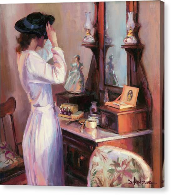 Boudoir Canvas Print - The New Hat by Steve Henderson