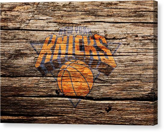 New York Knicks Canvas Print - The New York Knicks 1b by Brian Reaves