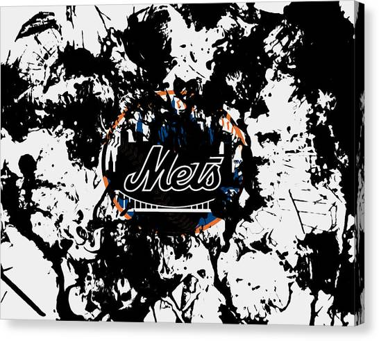 Miami Marlins Canvas Print - The New York Mets by Brian Reaves