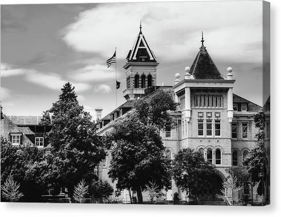 Utah State University Canvas Print - The Old Main - Utah State University by Pixabay