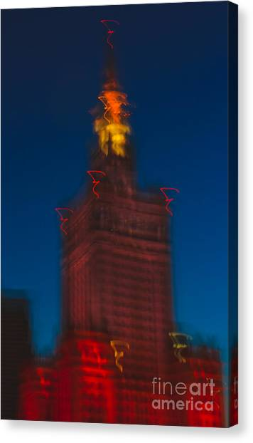 The Palace Of Culture And Science Canvas Print