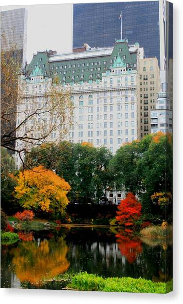 The Park And The Plaza Canvas Print