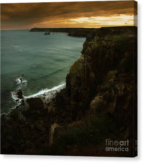 The Pembrokeshire Cliffs Canvas Print by Angel Ciesniarska