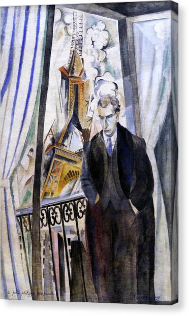 Lyrical Abstraction Canvas Print - The Poet Philippe Soupault by Robert Delaunay